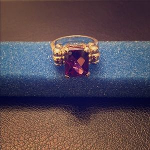 Amethyst Sterling Silver Ring. Size 8.